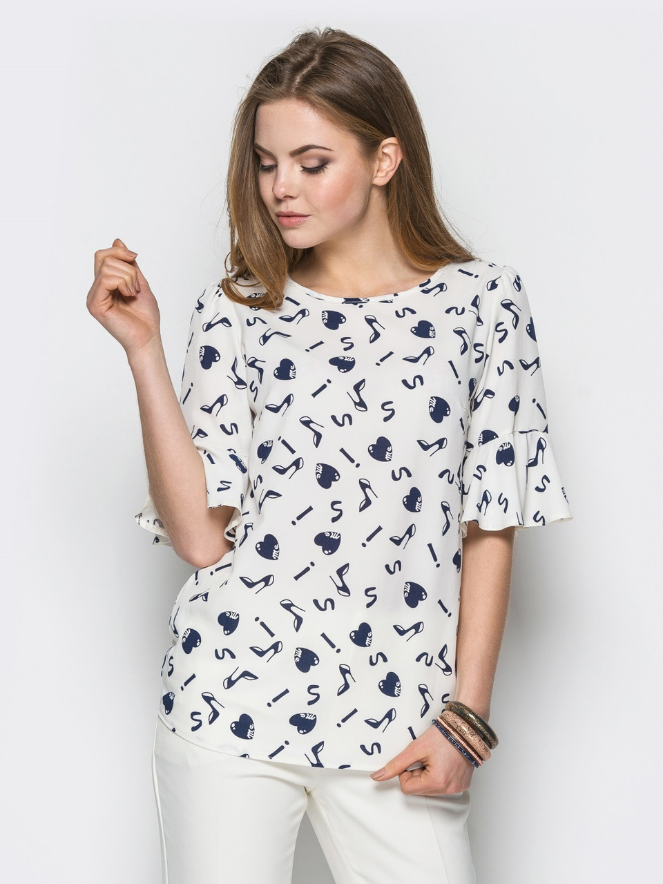 Блуза 443 (2 расцветки)