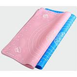 Силиконовый коврик для раскатки теста с разметкой (24*22 см), фото 2