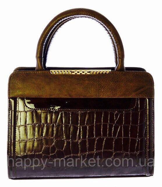 Сумка стильная женская деловая Valetta Искуственная кожа 17-604-8 Коричневый