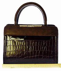 Сумка стильная женская деловая Valetta Искуственная кожа 17-604-8 Коричневый, фото 3