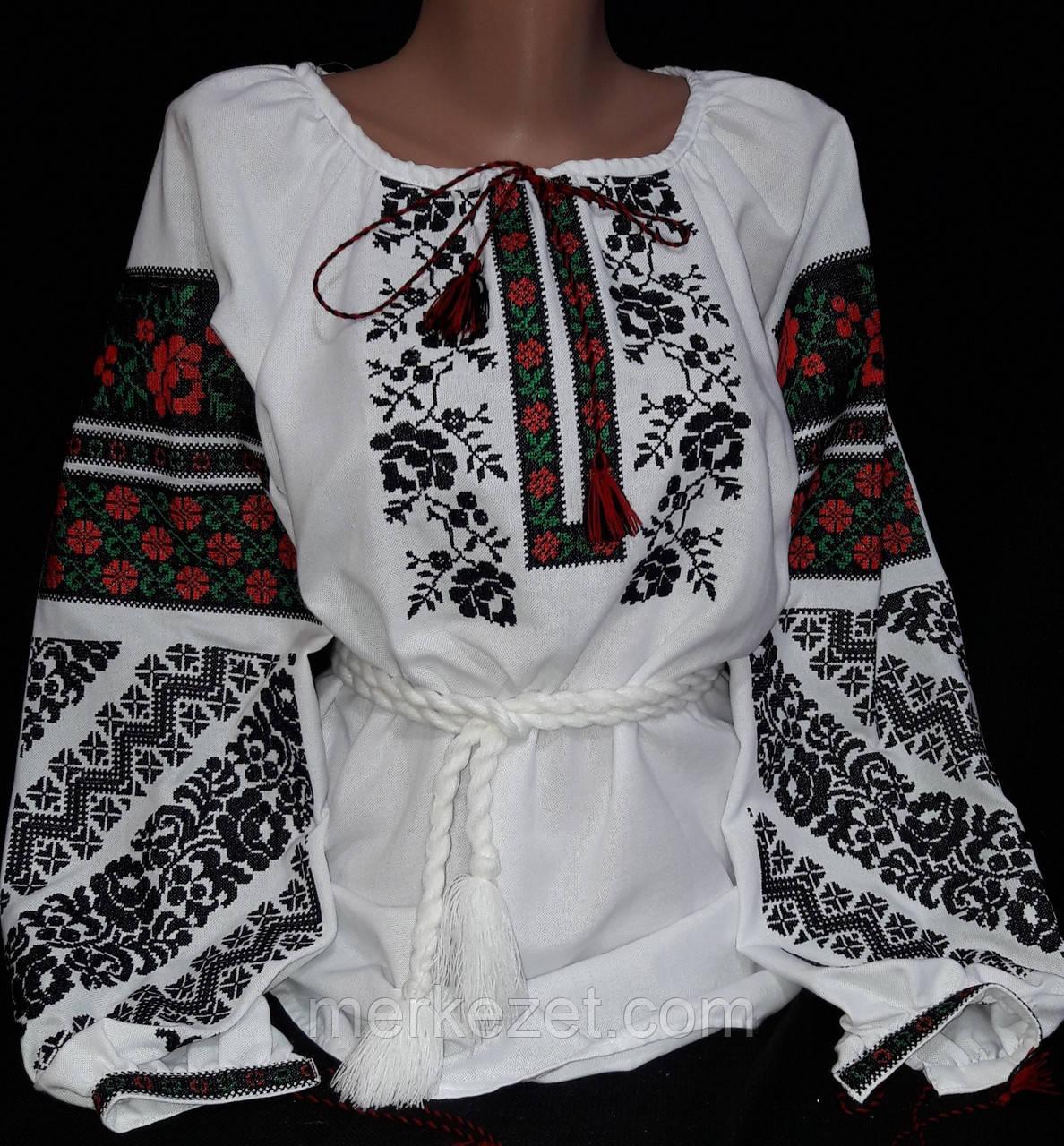 """Вышиванка """"Борщивская ружа"""" женская на домотканом полотне. Вышиванки. Вышитые блузы"""