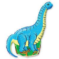 Шар, надутый гелием, фигура Динозавр голубой