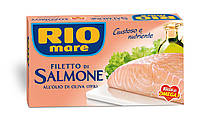 Филе лосося Rio Mare Filetto di Salmone в оливковом масле, 150 г.