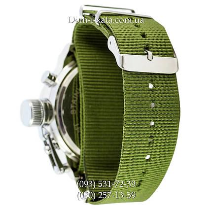 Армейские часы AMST 3003 Silver-Green, кварцевые, противоударные, армейские часы АМСТ серебристо-зеленые, реплика, отличное качество!, фото 2