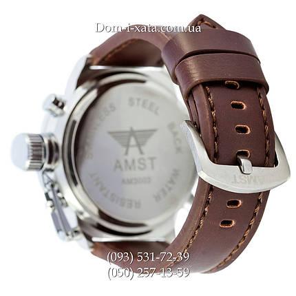 Армейские часы AMST 3003 Silver-Green, кварцевые, армейские часы АМСТ, реплика, отличное качество!, фото 2