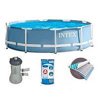 Intex 26712/28712 Голубой (366-76 см.) Каркасные бассейны круглые + Фильтрующий насос