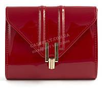 Стильная элитная лаковая небольшая женская сумка клатч для выпускного art. 7782 красная