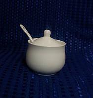 Vitol-6 Сахарница керамическая белая 200 мл. (29-238)