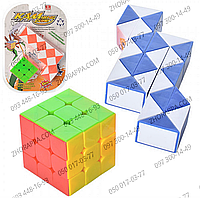 Игра Т 1157-4, головоломка, змейка и кубик Рубика, логические игры для ребенка, 2 цвета, в слюде