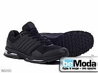 Привлекательные мужские кроссовки Violeta Black необычного фасона на рельефной подошве черные