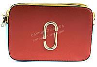 Яркая стильная прочная женская небольшая сумочка с двумя наплечными ремнями SULIYA art. 212 красная