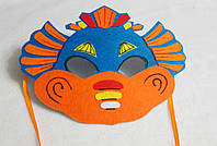Карнавальная маска  Дракон 1 для детских сюжетно ролевых игр.