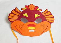 Карнавальная маска  Дракон 3 для детских сюжетно ролевых игр.
