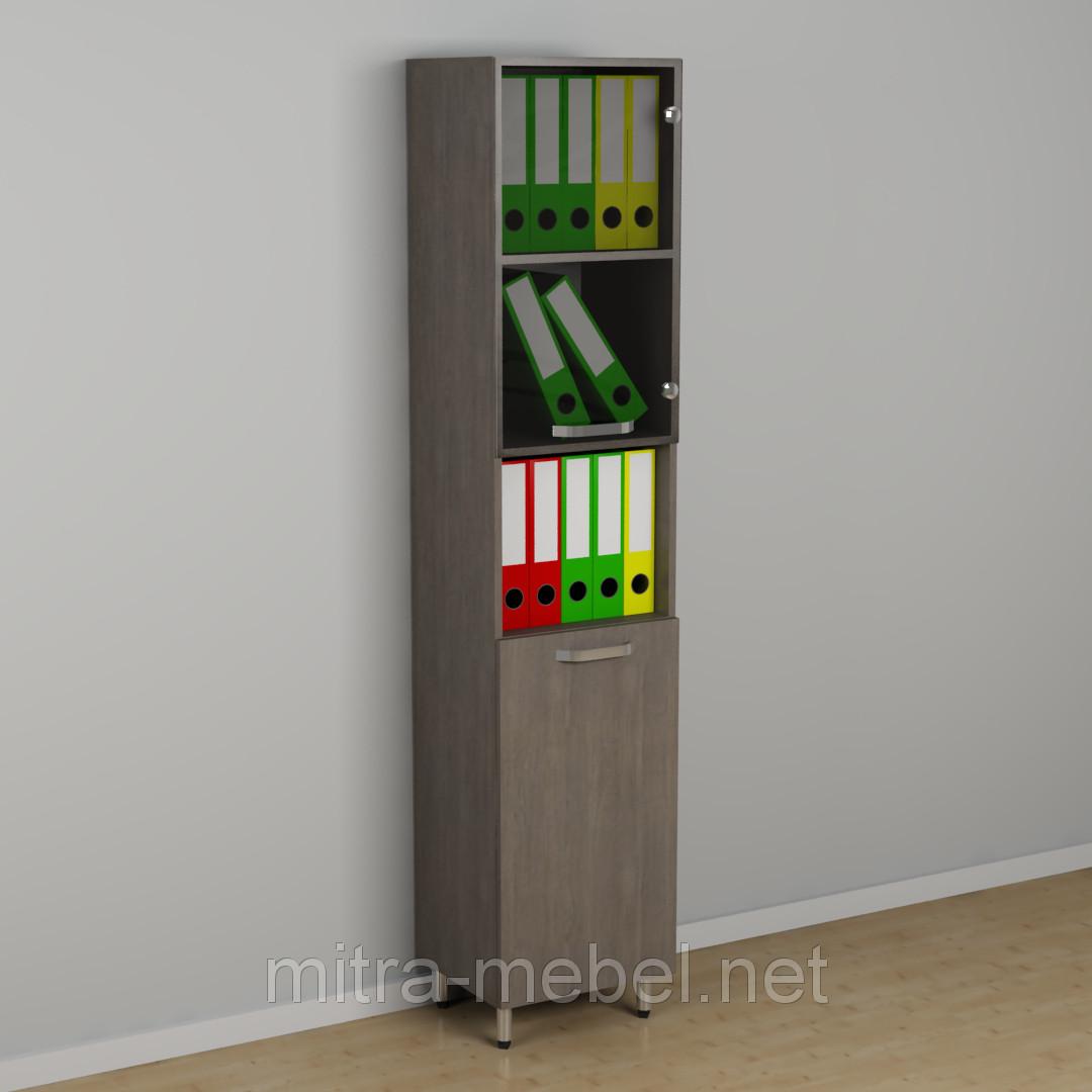Шкаф офисный со стеклом к-254