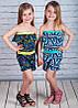 Летний комбинезон-ромпер на девочку Мозаика 86, 98, 110 см