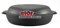 Жаровня чугунная 30х6см с чугунной крышкой-сковородкой ЭКОЛИТ (Украина)