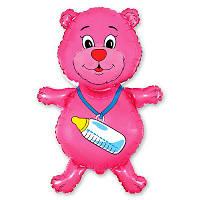 Фольгированные шары фигура Медвежонок девочка 93х55 см