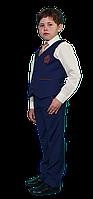 Школьный костюм для мальчика ярко синего цвета
