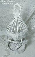Клетка декоративная плетеная свадебная, фото 1