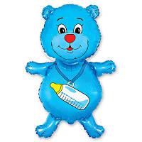 Фольгированные шары фигура Медвежонок мальчик 93х55 см