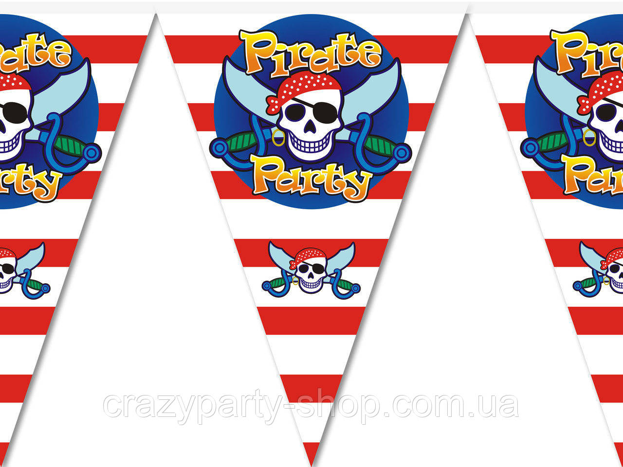 Гирлянда-флажки Пираты