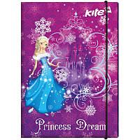 Папка для труда с наполнением Princess Dream A4 на резинке эконом