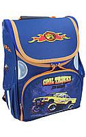Рюкзак школьный каркасный (ранец) для мальчика Rainbow Trucks 7-514