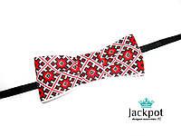 Дизайнерський галстук метелик вишиванка ручна робота