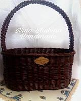 "Корзина плетеная ""Шоколад"", фото 1"