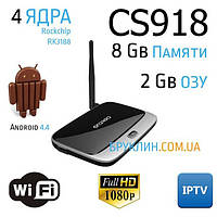 Андроид ТВ Смарт Приставка для телевизора / Android TV Box MK888 CS918 2/8Gb, 4 ядра 1.8Ghz+последняя прошивка