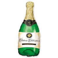 Фольгированные шары Бутылка шампанского 102х50 см