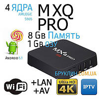 Андроид ТВ Смарт Приставка MXQ PRO 1/8Gb Amlogic S905 / Android Smart Tv Box Android 5.1, 4 ядра, UltraHD (4K)