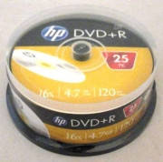 Диски HP DVD+R CB 25pcs 16x