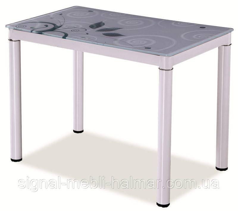 Стеклянный стол Damar 100x60  (в разных цветах) (signal)