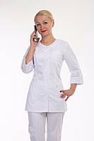 Качественный женский медицинский костюм белого цвета