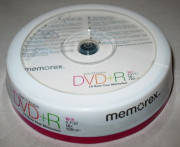 Диски Memorex Printable DVD+R 4.7Gb CB 10pcs 16x