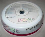 Диски Memorex Printable DVD+R 4.7Gb CB 10pcs 16x