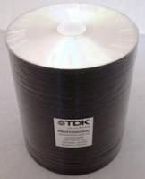 Диски TDK DVD-R Printable 100pcs Bulk 16x Thermal Silver Scretch Proof (термопринт)