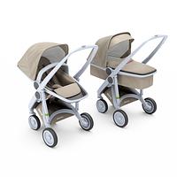 Greentom - Детская коляска Upp 2 в 1, цвет Sand - серое шасси
