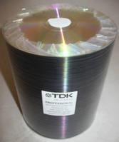 Диски TDK DVD-R 100pcs Bulk 16x Unprinted Silver Scratch Proof (зеркало)