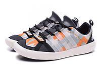 Летние кроссовки Adidas Climacool Boat SL black-orange, фото 1