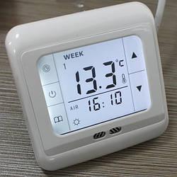 Терморегулятор сенсорный для теплого пола (комнатный термостат) Floureon C07. Белая подсветка.