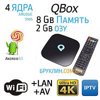 Sunvell Q-Box 2/8 Gb Андроид Смарт ТВ Приставка / Smart Tv Android 5.1 Box Ultra Hd 4K
