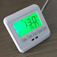Терморегулятор (программатор) для теплого пола (комнатный термостат) Floureon C08. Зеленая подсветка.
