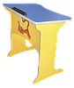 Стол-парта детский «Фантазия», 1-местный, антисколиозный, ростовой группы № 1 —  600х450х460 мм