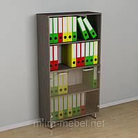 Офисный шкаф со стеклом к-3640