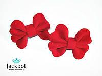 Червоні резинки для волосся з натурального кашеміру ручна робота