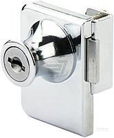 Замок мебельный накладной KL-409 для стекла на 2 двери хром