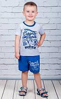 Летний комплект на мальчика Самолёт (шорты и футболка) 74/80 см Турция , фото 1