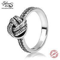 """Серебряное кольцо Пандора (Pandora) """"Любовные узы"""""""